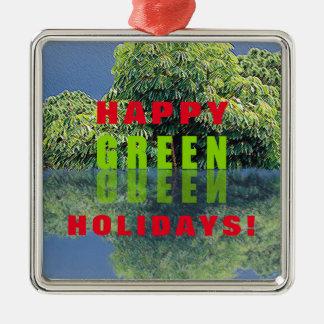 Ornamento De Metal Feriados verdes