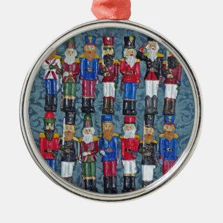 Ornamento De Metal Figuras do natal vintage, soldados idosos