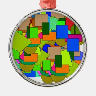 Ornamento De Metal figuras geométricas