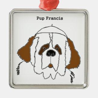 Ornamento De Metal Filhote de cachorro Francis para artigos pequenos