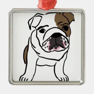 Ornamento De Metal Filhote de cachorro inglês personalizado do