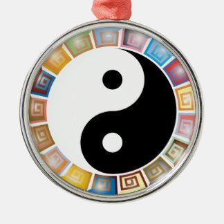 Ornamento De Metal filosofia asiática oriental de yang do yin