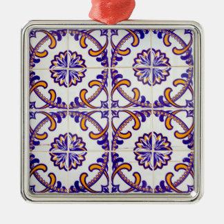 Ornamento De Metal Fim-acima do teste padrão do azulejo, Portugal