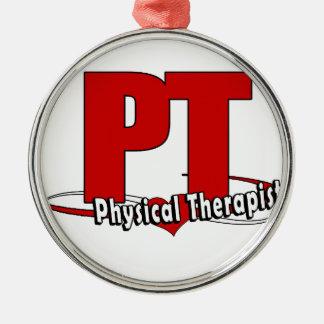Ornamento De Metal Fisioterapeuta VERMELHO GRANDE do LOGOTIPO    da
