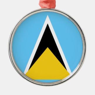 Ornamento De Metal Flag_of_Saint_Lucia