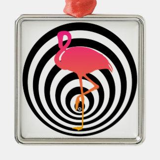Ornamento De Metal Flamingo bonito nos círculos