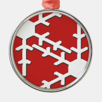 Ornamento De Metal Flocos de neve