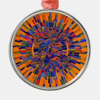 Ornamento De Metal Flor abstrata