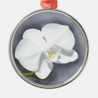 Ornamento De Metal Flor branca da orquídea