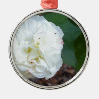 Ornamento De Metal flor branca dos mutabilis do hibiscus