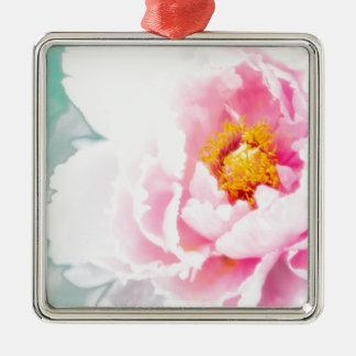 Ornamento De Metal Flor cor-de-rosa chave alta da peônia
