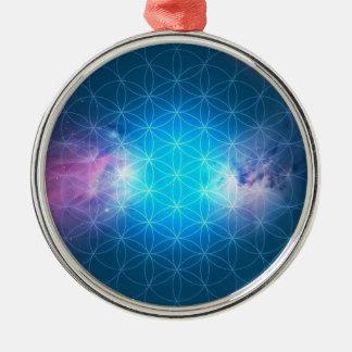 Ornamento De Metal Flor cósmica da vida