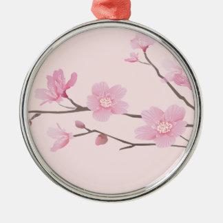 Ornamento De Metal Flor de cerejeira - rosa