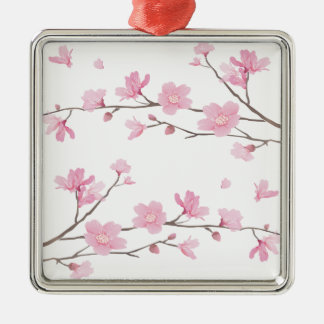 Ornamento De Metal Flor de cerejeira - Transparente-Fundo