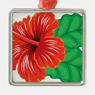 Ornamento De Metal Flor do hibiscus