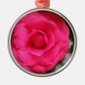 Ornamento De Metal Flor vermelha do japonica Rachele Odero da camélia