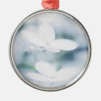 Ornamento De Metal Flores brancas bonitas do hydrangea