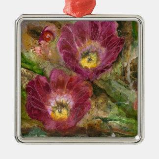 Ornamento De Metal Flores cor-de-rosa do deserto da arizona