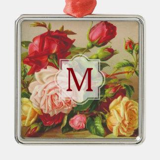 Ornamento De Metal Flores do buquê dos rosas do Victorian do vintage