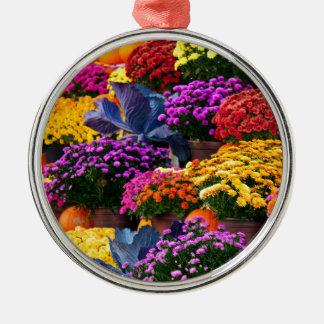 Ornamento De Metal Flores e abóboras