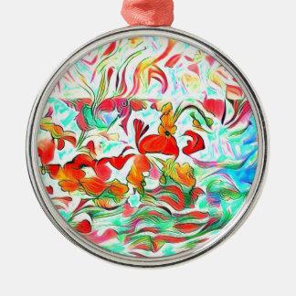 Ornamento De Metal Flores na água