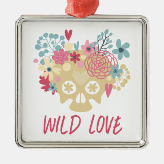 Ornamento De Metal Flores selvagens do amor