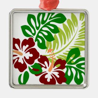 Ornamento De Metal Flores tropicais do hibiscus