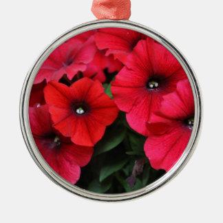 Ornamento De Metal Flores vermelhas do petúnia