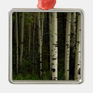 Ornamento De Metal Floresta branca