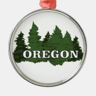 Ornamento De Metal Floresta de Oregon