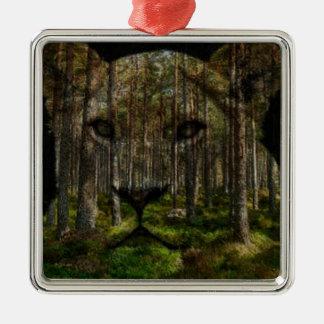 Ornamento De Metal Floresta dentro de um tigre