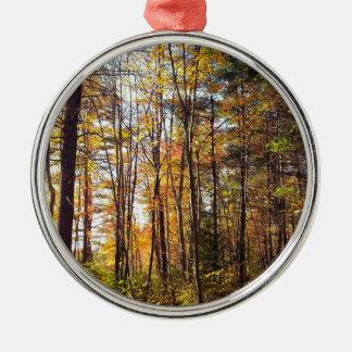 Ornamento De Metal Floresta do outono de New Hampshire