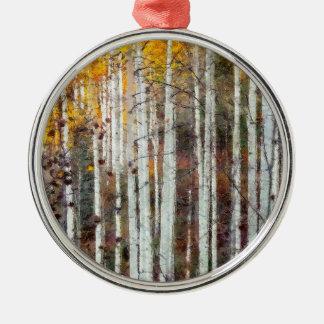 Ornamento De Metal Floresta enevoada do vidoeiro