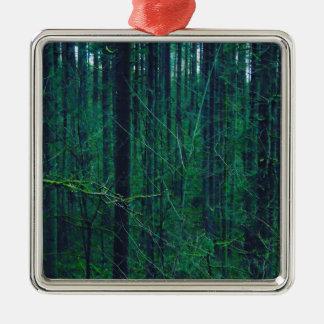 Ornamento De Metal Floresta verde