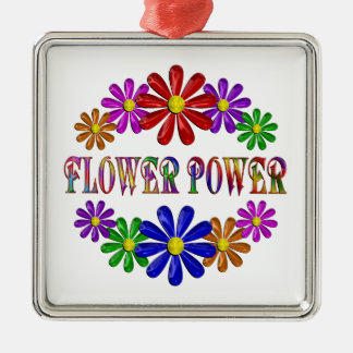 ORNAMENTO DE METAL FLOWER POWER