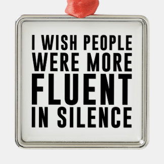 Ornamento De Metal Fluente no silêncio