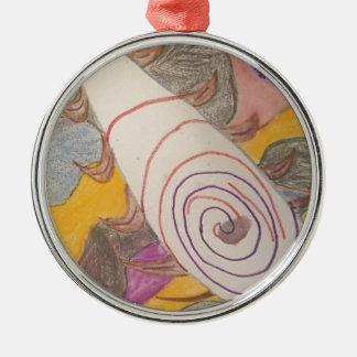 Ornamento De Metal Flutuação no vácuo do arco-íris