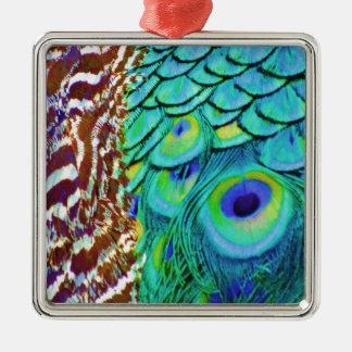 Ornamento De Metal Fluxo calmo do Peafowl