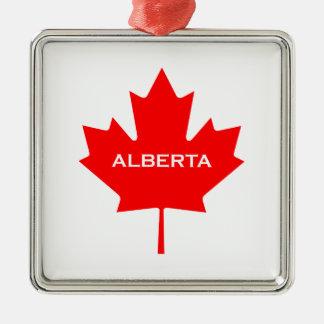 Ornamento De Metal Folha de bordo de Alberta Canadá