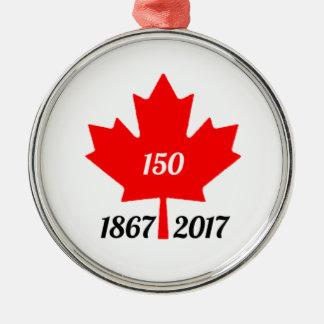 Ornamento De Metal Folha de bordo de Canadá 150 em 2017