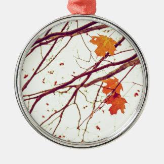 Ornamento De Metal Folhas de outono