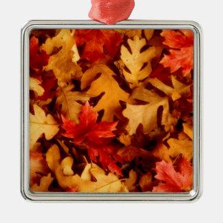 Ornamento De Metal Folhas de outono - cor da queda