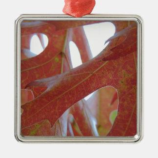 Ornamento De Metal Folhas do carvalho do outono