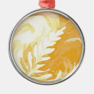 Ornamento De Metal Folhas do copo de café do creme