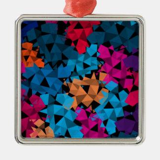 Ornamento De Metal Formas 3D geométricas coloridas