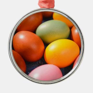 Ornamento De Metal Foto colorida do costume dos ovos da páscoa
