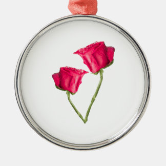 Ornamento De Metal Foto das rosas vermelhas