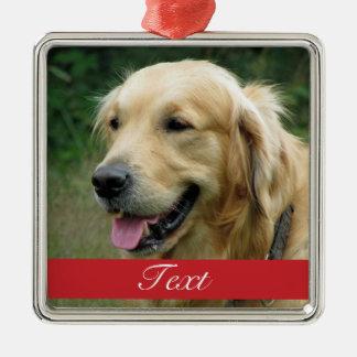 Ornamento De Metal Foto do animal de estimação customizável