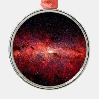 Ornamento De Metal Foto do espaço da galáxia da Via Láctea