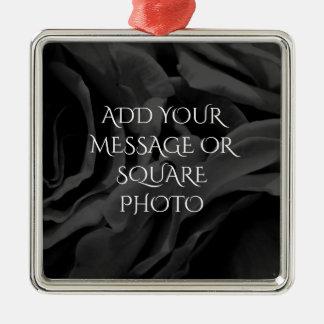 Ornamento De Metal Foto floral dos rosas pretos